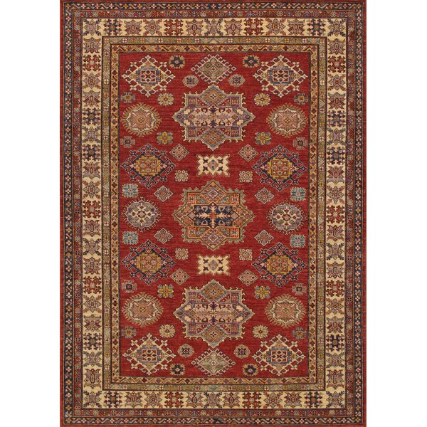 Kazak Hand-Knotted Red Area Rug by Pasargad