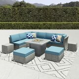 Damar 11 Piece Rattan Sectional Seating Group With Cushions By Latitude Run Onsales Discount Prices Poqcvfrt