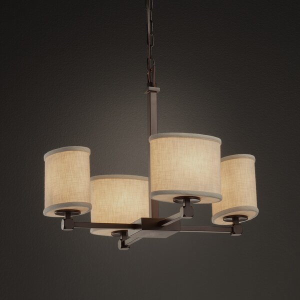 Geoffroy 4-Light Shaded Classic / Traditional Chandelier By Latitude Run