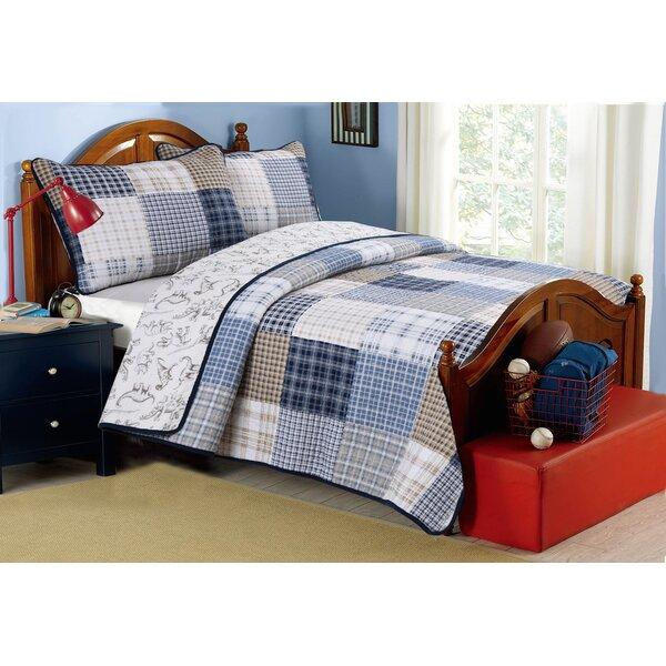 Benjamin Cotton Reversible Quilt Set by Cozy Line Home Fashion