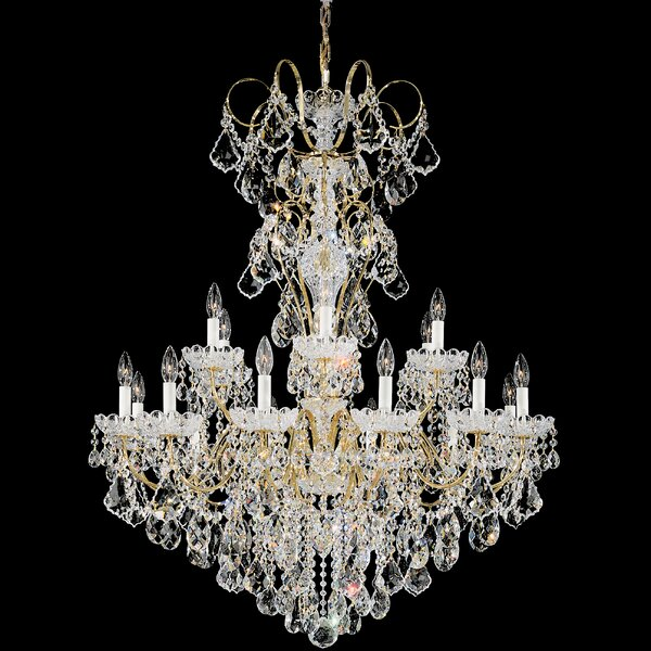 New Orleans 18 - Light Candle Style Empire Chandelier By Schonbek