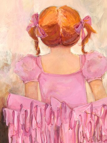 Angelic Ballerina Red Hair Canvas Art by Oopsy Daisy