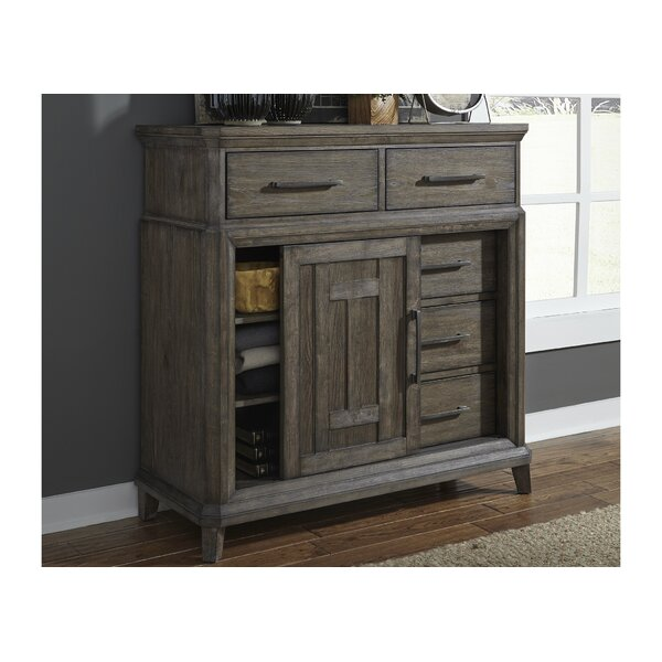 Grigg 5 Drawer Gentlemans Chest by Gracie Oaks