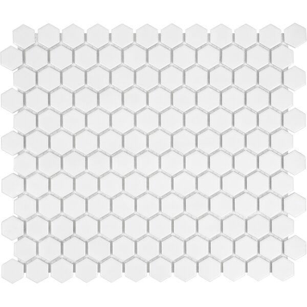 Sail 1 x 1 Porcelain Mosaic Tile in White by Parva
