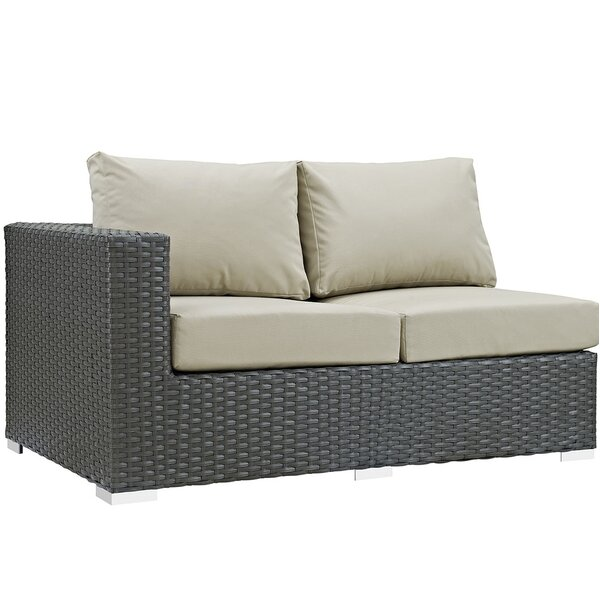 Tripp Left Arm Loveseat with Sunbrella Cushions by Brayden Studio