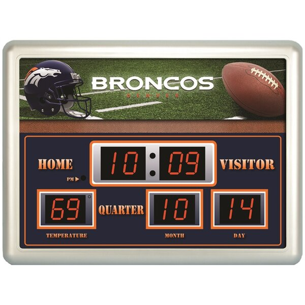 Denver Broncos Scoreboard Wall Clock by Evergreen Enterprises, Inc