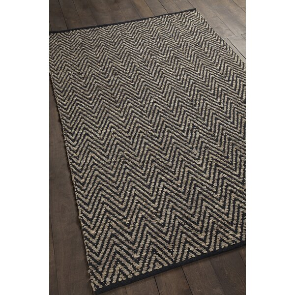 Salley Hand-Woven Beige/Black Area Rug by Brayden Studio