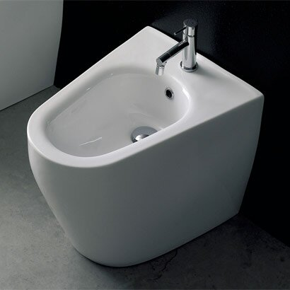 Tizi 16.1 Floor Mount Bidet by Scarabeo by Nameeks