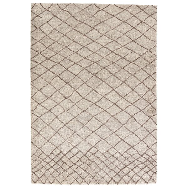 Casner Hand-Tufted Cloud Cream/Chocolate Chip Area Rug by Brayden Studio