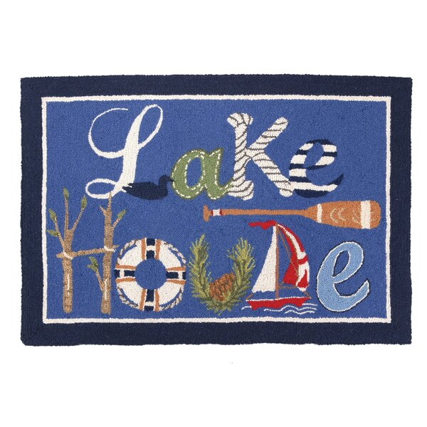 Lake House Hook Blue Area Rug by Peking Handicraft