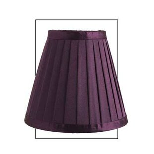 Purple light shades wayfair 15cm dylan satin silk empire lamp shade mozeypictures Image collections