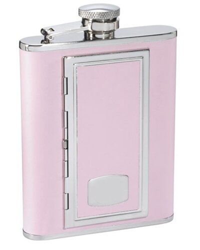 SP Leather Flask with Built in Cigarette Case by Visol Products