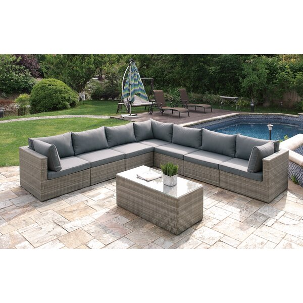 8 Piece Sectional Seating Group with Cushions by JB Patio
