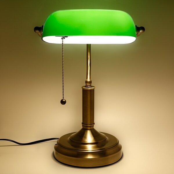 Plumerville Antique 10.6 Banker Lamp by Charlton Home