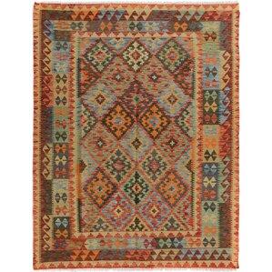 rosalina wool blueorange area rug