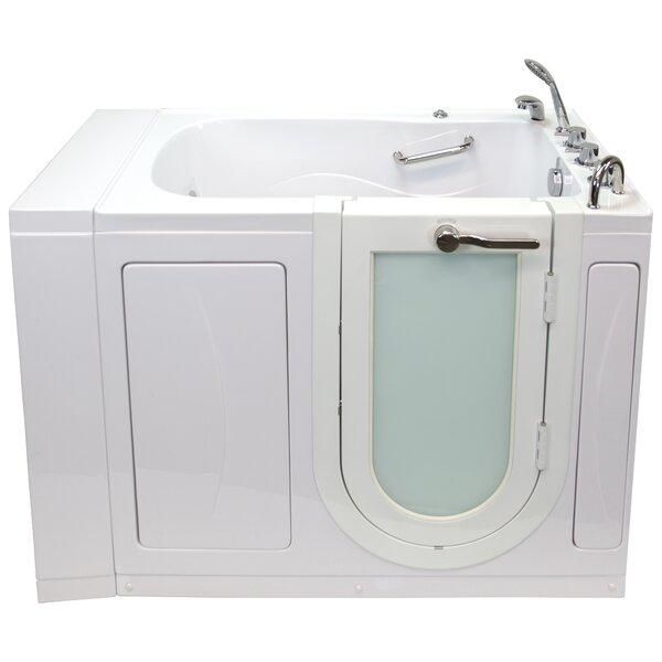 Monaco Hydro Massage 52 x 32 Walk in Whirlpool Bathtub with Thermo Faucet Set by Ella Walk In Baths