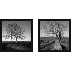 To The End' 2 Piece Framed Photographic Print Set Under Glass by Wrought Studio