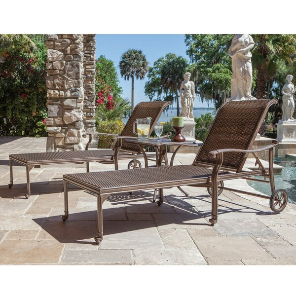Isai Aluminum Sun Lounger Set with Table by Darby Home Co