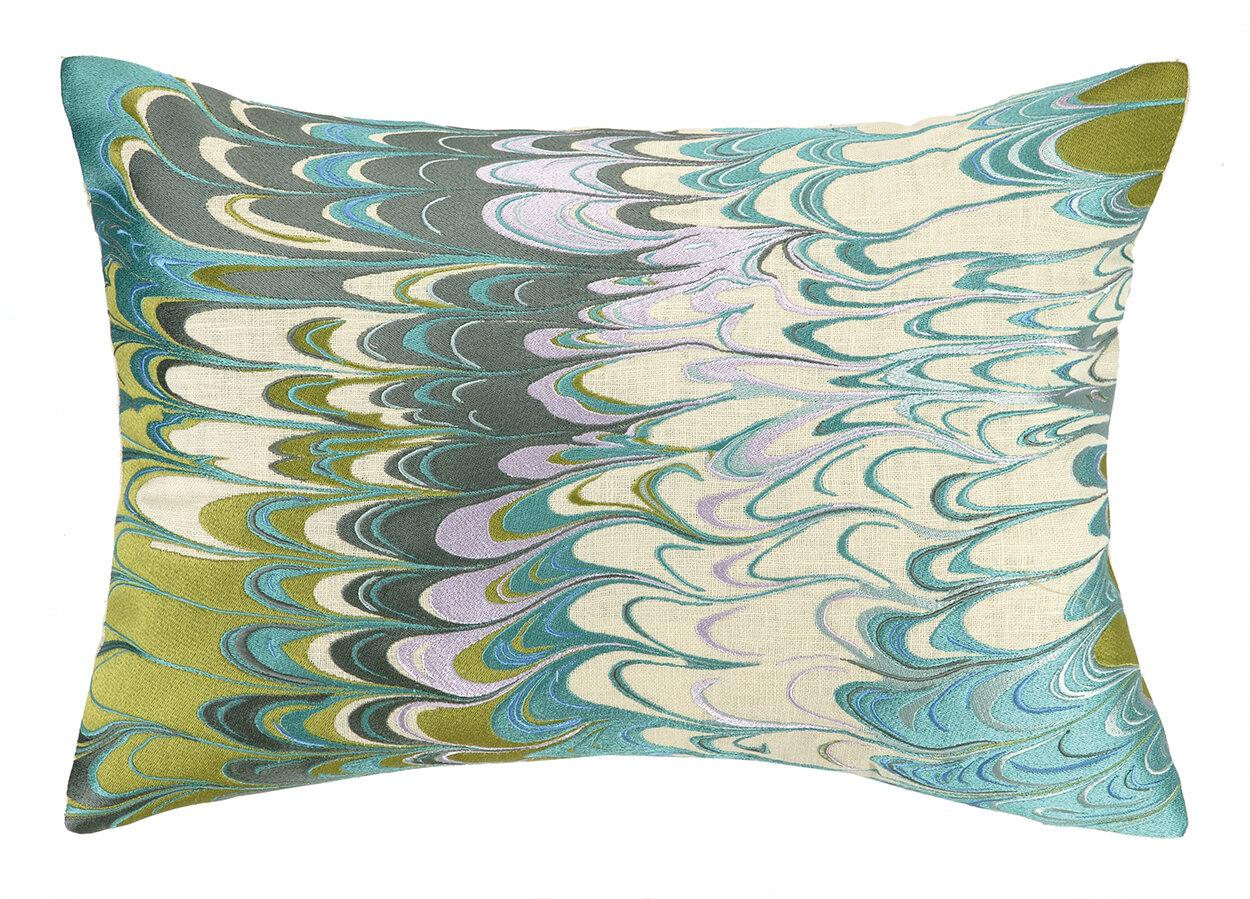 D L Rhein Marbled Madness Linen Lumbar Pillow Wayfair