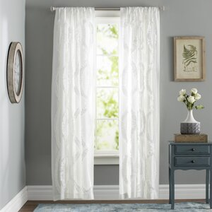 Osby Solid Semi-Sheer Rod Pocket Single Curtain Panel