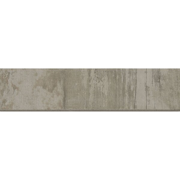 Season Wood 12 x 3 Porcelain Bullnose Tile Trim in Redwood Grove by Daltile