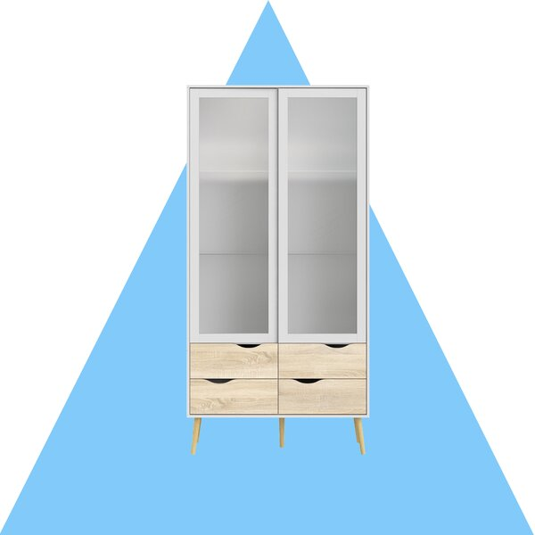 Dowler 4 Drawer and 2 Door China Cabinet with Glass by Hashtag Home