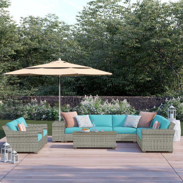 Falmouth 11 Piece Sectional Seating Group with Cushions by Sol 72 Outdoor