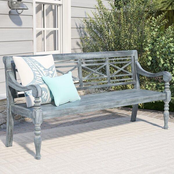 Putnam Acacia Wood Garden Bench by Beachcrest Home