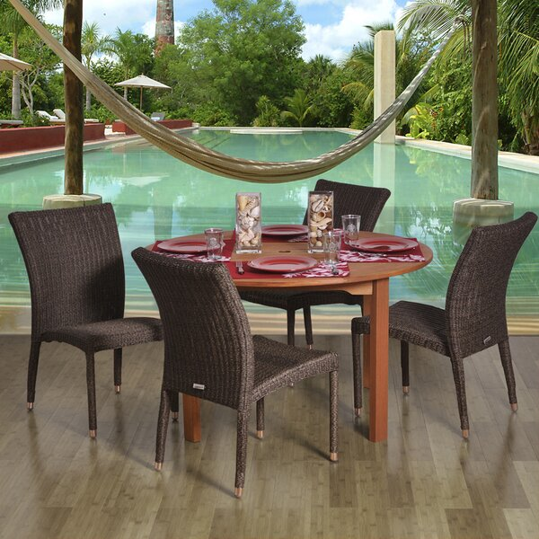 Fairfax International Home Outdoor 5 Piece Dining Set by Bayou Breeze