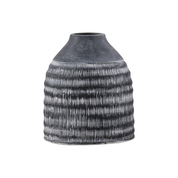 Cane Round Cement Table Vase by Union Rustic