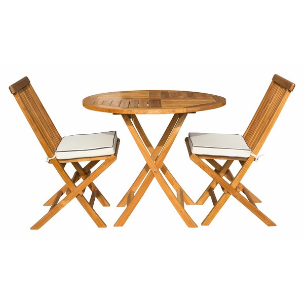 Randell Valencia 3 Piece Teak Sunbrella Seating Group with Cushions by Bay Isle Home
