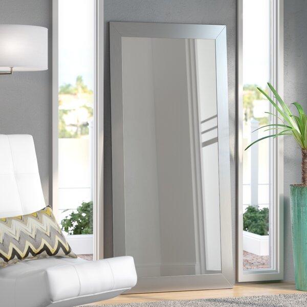 Brushed Nickel Aluminum Full Body Wall Mirror by Wade Logan