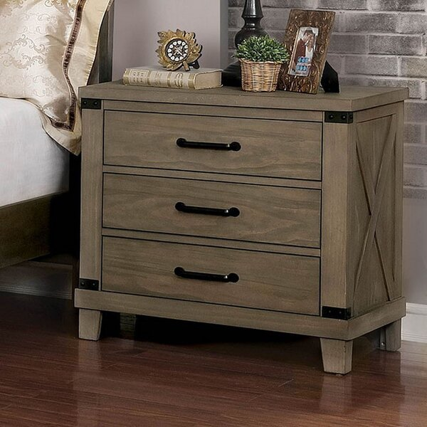 Landreneau 3 Drawer Nightstand by Gracie Oaks