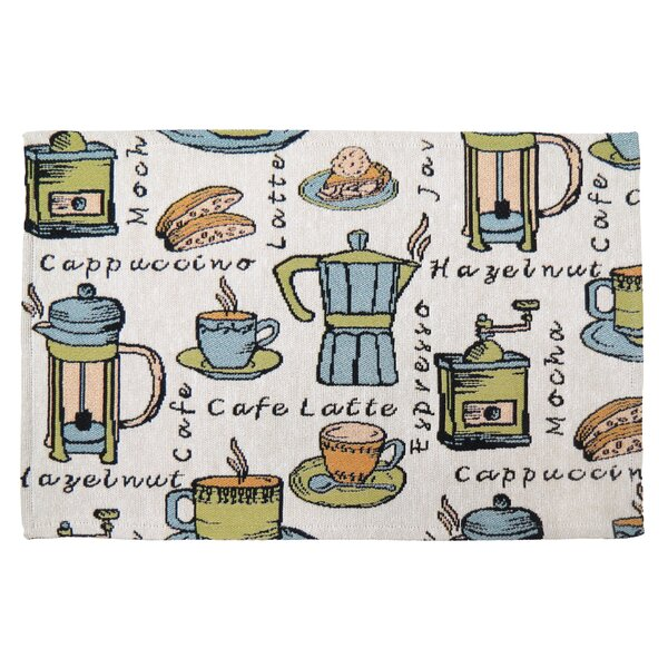 Gean Café Roast Tapestry Placemat (Set of 4) by Winston Porter