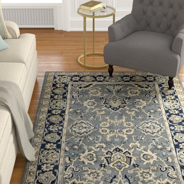 Eugenie Indigo Agra Rug by Alcott Hill