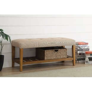 Wasinger Wooden Upholstered Bench