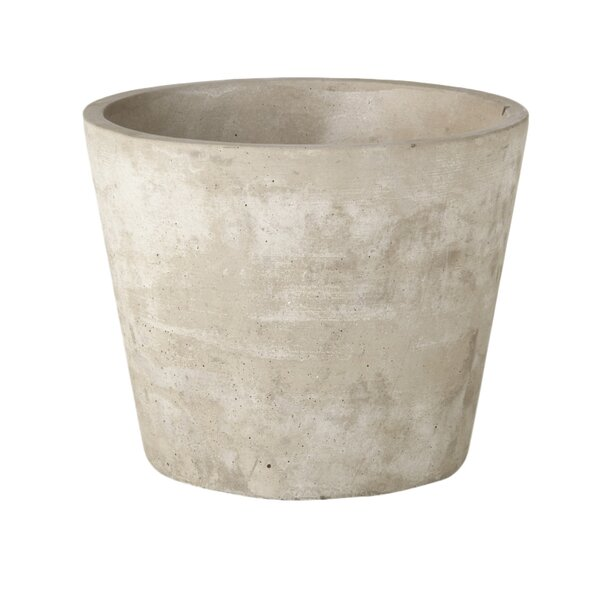 Emilie Round Cement Pot Planter by August Grove