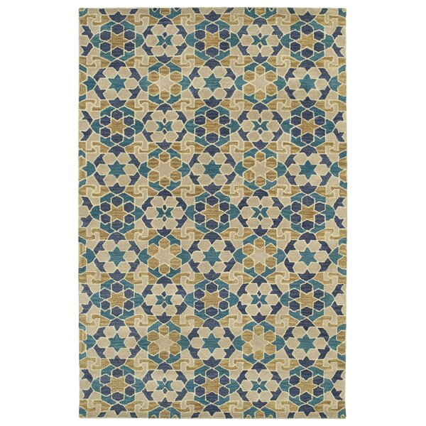 Devereaux Hand Tufted Blue/Beige Area Rug by Bloomsbury Market