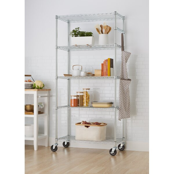 Durst NSF 77 H 5 Shelf Shelving Unit Starter by Rebrilliant