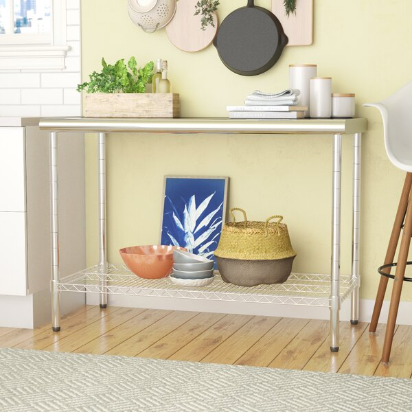 Dedmon Table with Stainless Steel Top by Ebern Designs