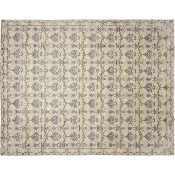 One-of-a-Kind Lona Hand-Knotted Rectangle Blue Area Rug by Isabelline