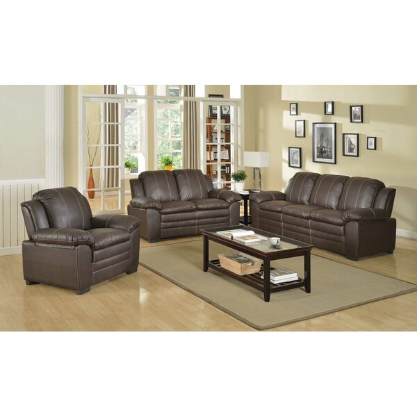 Oxley Luxury 3 Piece Living Room Set by Red Barrel Studio