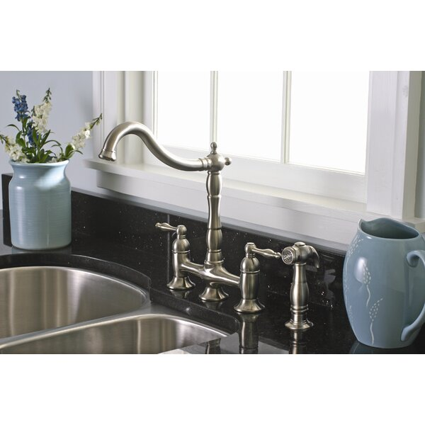 Charlestown Bridge Faucet with Side Spray by Premier Faucet
