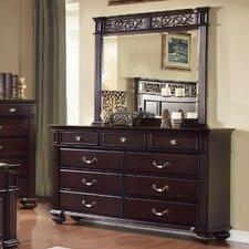 Wesleyan 9 Drawer Dresser with Mirror by Astoria Grand
