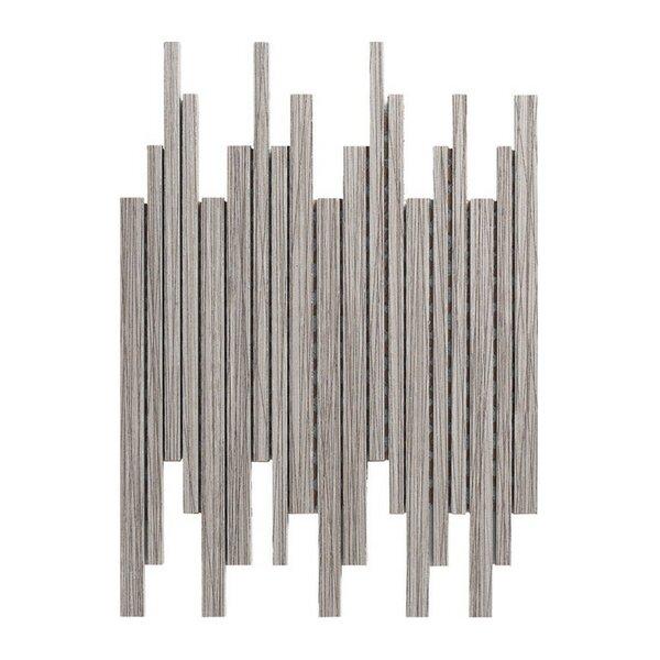 Bambu 12 x 12 Porcelain Mosaic Tile in Gray by Kellani