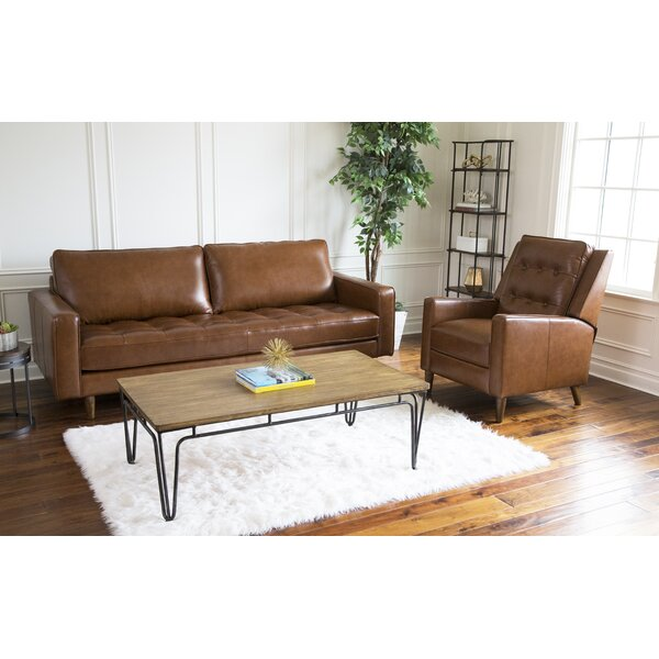 Drumheller Reclining 2 Piece Leather Living Room Set by Corrigan Studio