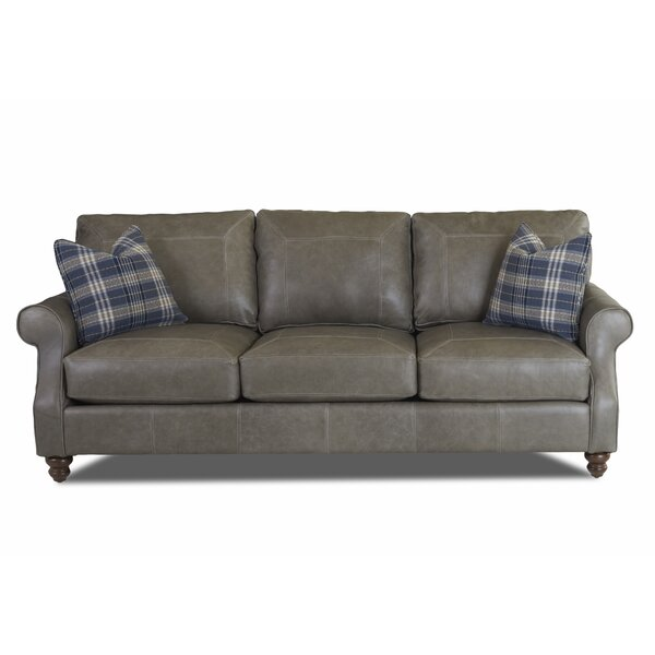 Belloreid Extra Large Leather Sofa by Canora Grey