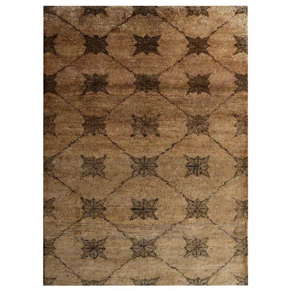 St Catherine Hand-Knotted Brown/Beige Indoor/Outdoor Area Rug by Millwood Pines