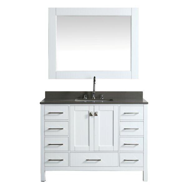 London Hyde 48 Single Bathroom Vanity Set with Mirror by dCOR design