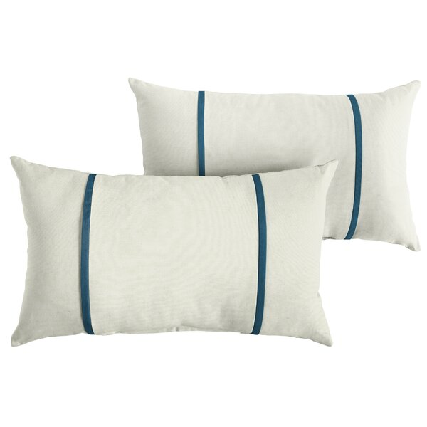 Claar Indoor/Outdoor Sunbrella Lumbar Pillow (Set of 2) by Highland Dunes